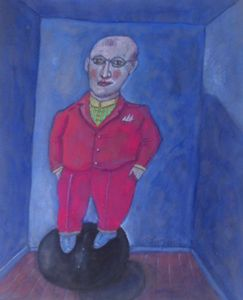 Room Painting Man Young Noble Canvas