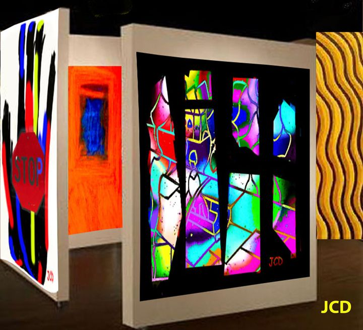 My art in a gallery - Jean-Claude Delhaise