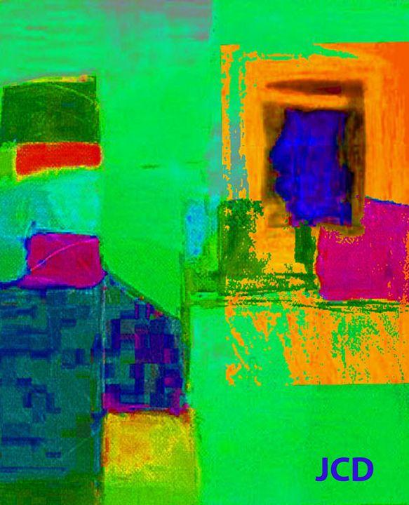 Green and orange - Jean-Claude Delhaise