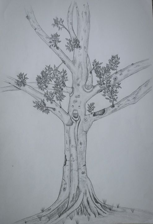 happy tree. - A malins sketch art.
