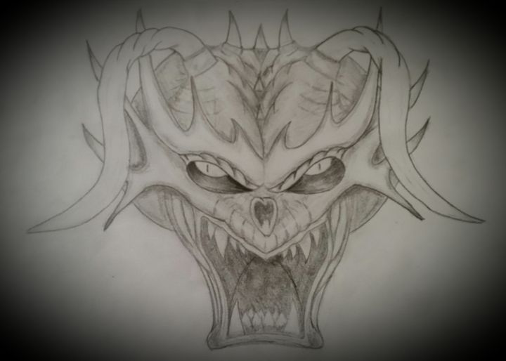 Night demon. - A malins sketch art.