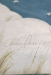 The signature on the art