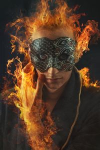 Masked phoenix man