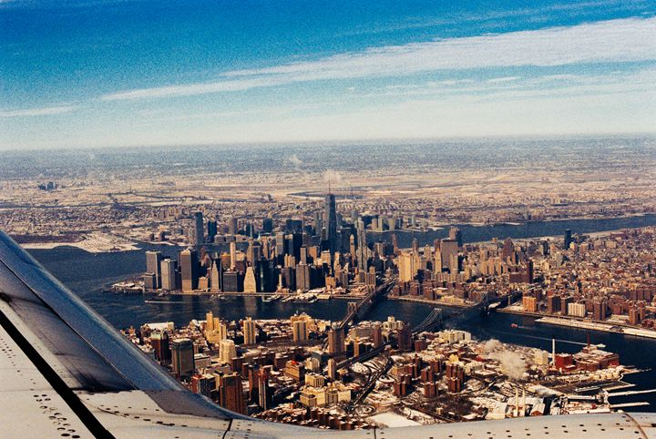 Manhattan Over the Wing - Jay Kim Photography
