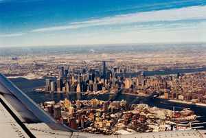 Manhattan Over the Wing