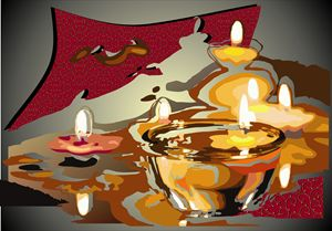 Abstract Art - Candles