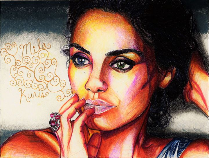 Very Vivid- Mila Kunis - DARIEN RACHELLE ART