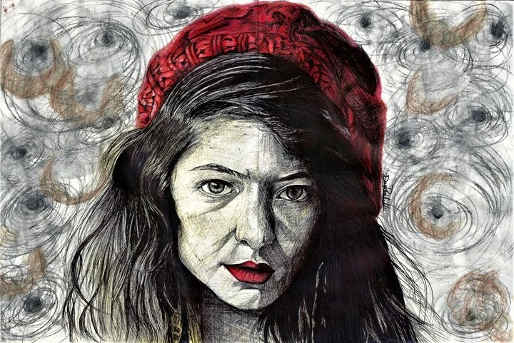Lorde- Pen, Coffee and Water - DARIEN RACHELLE ART
