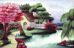 Cottage and Pond