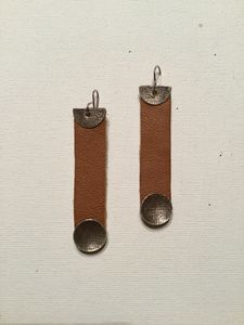 Tan Leather w/Oxidized Silver