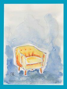 Yellow armchair - GTL atelier