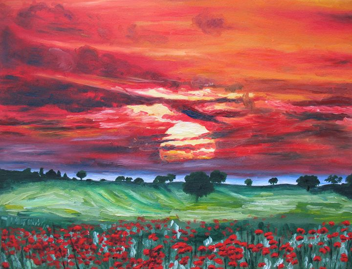 The Sun And The Poppies - Oxana Yemets