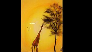 Giraffe - Standing tall