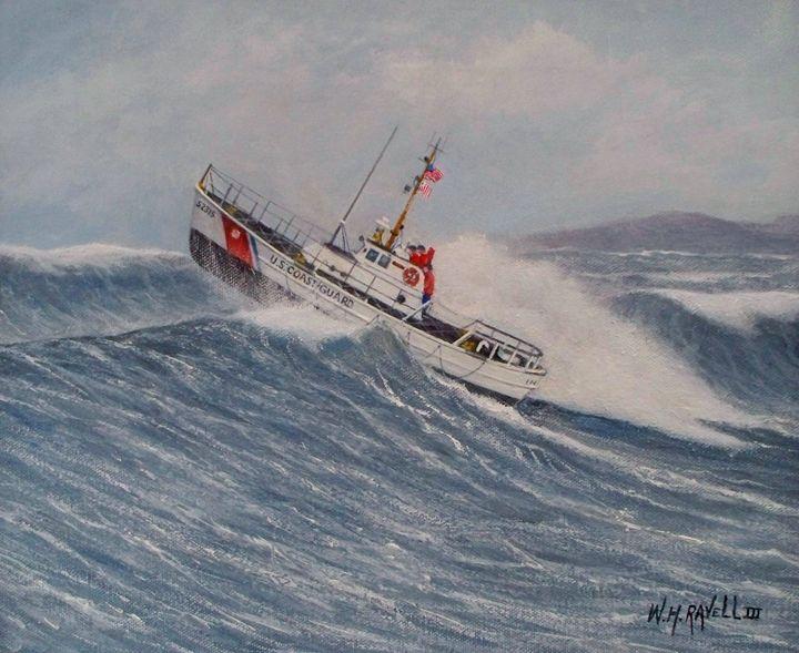 "U. S. Coast Guard  Boat ""Intreped - RaVell Fine Art Studio"