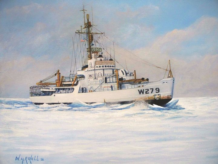 U S. Coast Guard Icebreaker Eastwind - RaVell Fine Art Studio