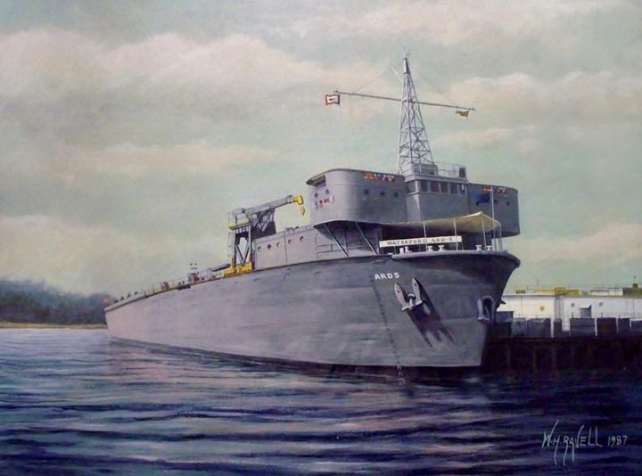 USS Waterford ARD-5 - RaVell Fine Art Studio