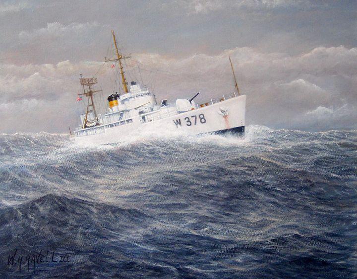 U. S. Coast Guard Cutter Hsalfmoon - RaVell Fine Art Studio