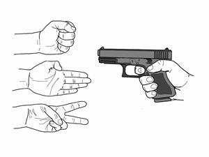 rock, paper, scissors, shoot