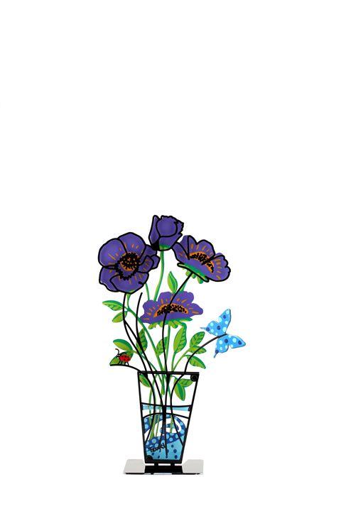 Anemone Flower Vase Purple Tzuki - Tzuki Design