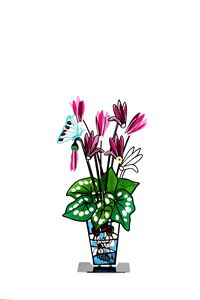 Cyclamen Vase Pink Flowers Tzuki - Tzuki Design