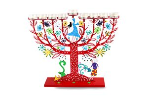 Family Tree Menorah Judaica Art - Tzuki Design