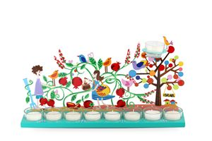 Pomegranate Menorah Candle Holder - Tzuki Design
