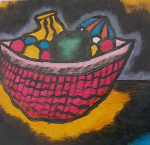 Plenty of fruits inside the basket