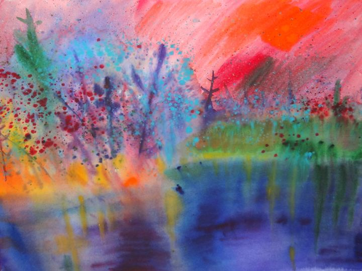 The Fantastic Lake - Brook S Powell Art