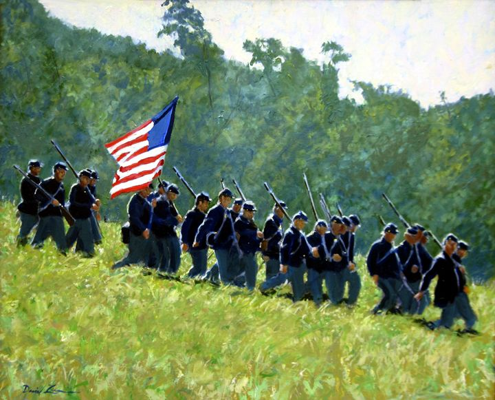 Downhill for the Union - David Zimmerman Fine Art
