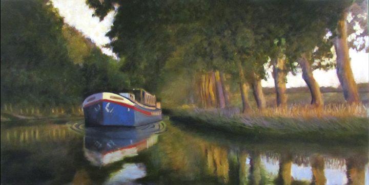 Steamer en Canal Du Midi - David Zimmerman Fine Art
