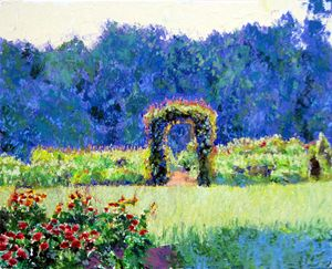 The Garden Gate - David Zimmerman Fine Art