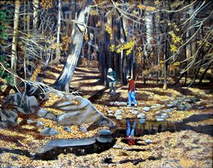 Plans For Creek Bottom - David Zimmerman Fine Art