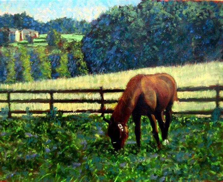 In The Paddock - David Zimmerman Fine Art
