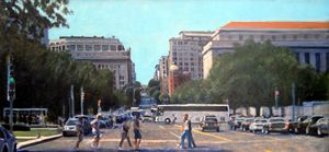7th Street Crossing - David Zimmerman Fine Art