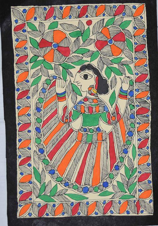 Art049-Woman-dancing-in-the-garden - Artkaari