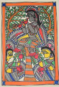 ART052-Gopi-worshipping-Shri-Krishna