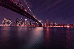 New York Brooklyn Bridge at Night
