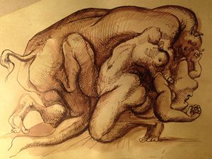 PABLO PICASSO MINOTAUR & GIRL - Old Masters gallery