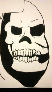Sketltor black ink drawing
