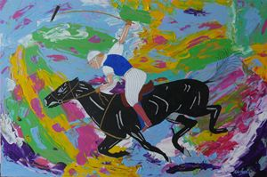 Polo Pony with Rider