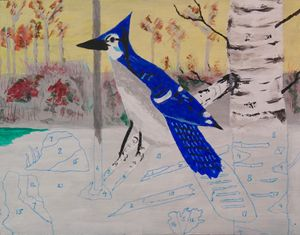 Blue Jay - Faux Paint by Numbers