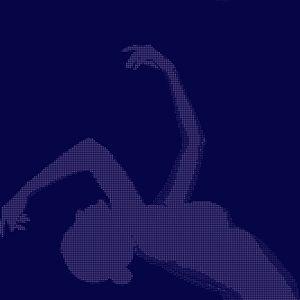 Deep Blue: Woman Figure Reaching