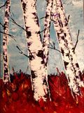 Birch in the Fall