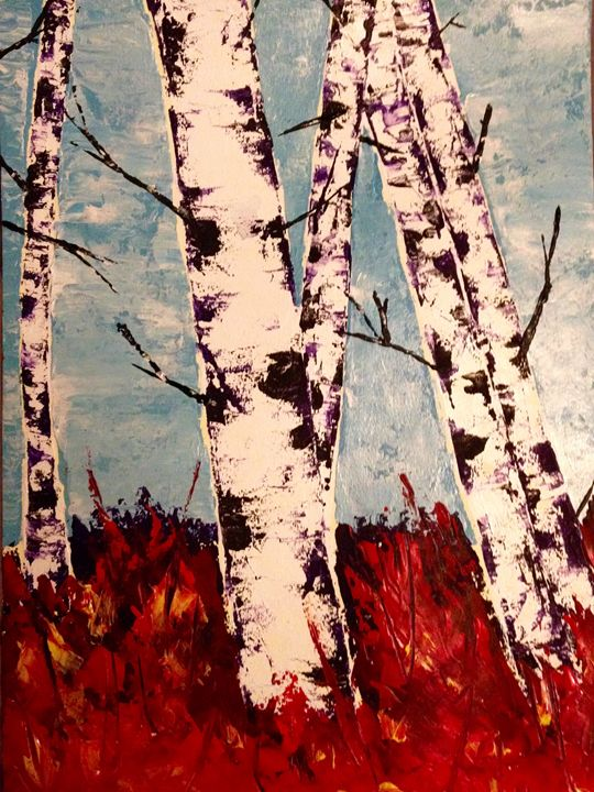 Birch in the Fall - My Art