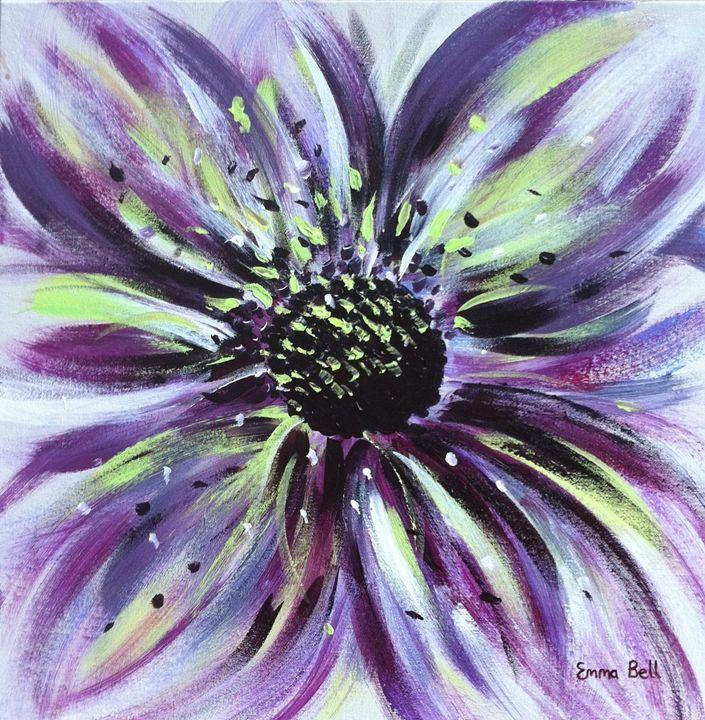 Purple Floral Burst - Emma Bell Fine Art