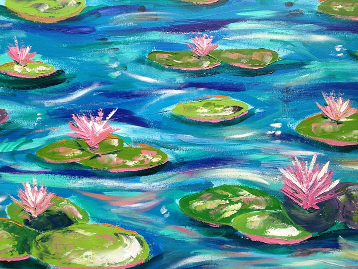 Lilly Pond Impression 2 - Emma Bell Fine Art