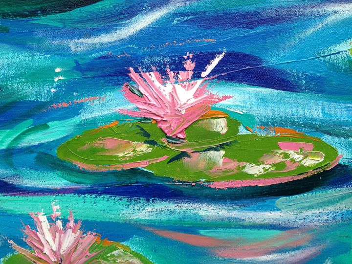 Lily Pond Impression 2 - Emma Bell Fine Art