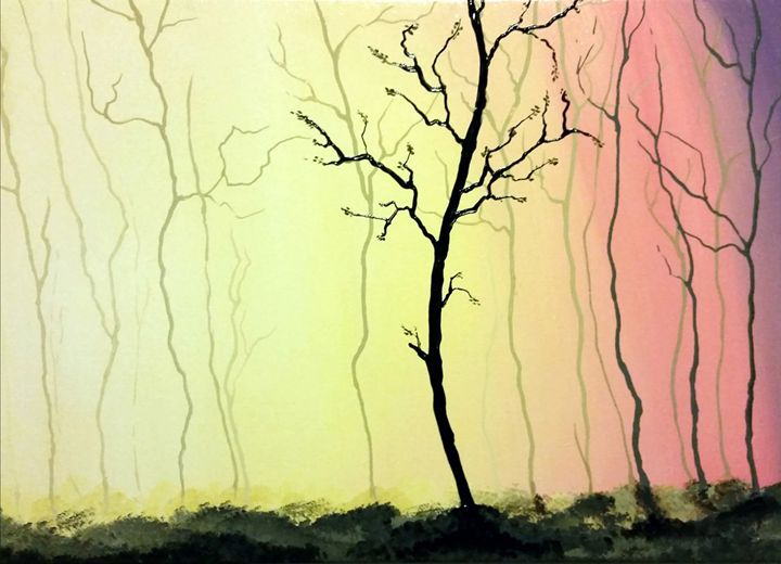 forest on fire with light - Chris Terry Artwork