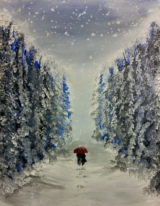 Snow covered path of mystery - Chris Terry Artwork