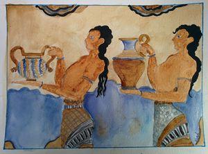 Knossos freco (Minoan) art